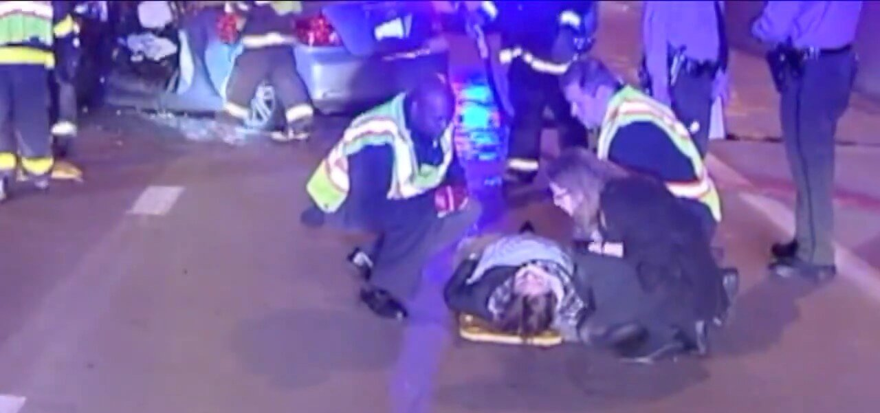 Erin Rollins' first memory after a drunk driver hit her head on was of being wheeled backwards into an ambulance, and wondering if it was real.